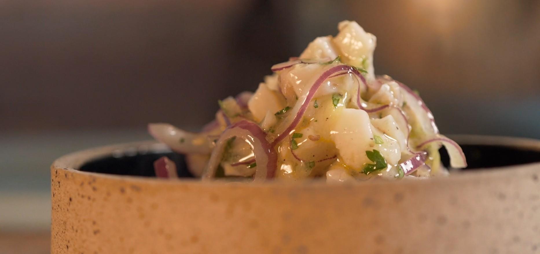 Ceviche no Gastro Music Bar Sallero